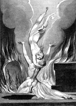 The Reunion of the Soul and the Body, William Blake, 1808